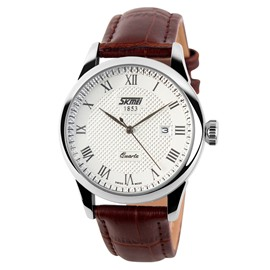 Ericdress Roman Numerals Scale With Calendar Men's Watch