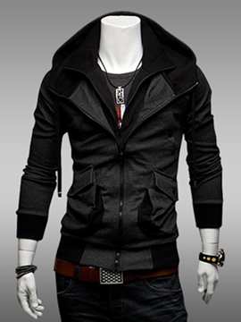 Ericdress Stylish Lapel Zipper Men's Coat