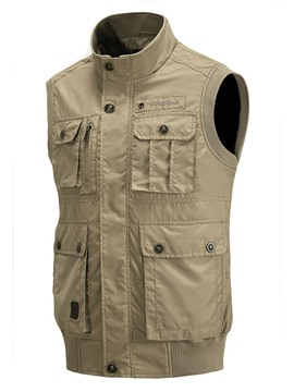 Ericdress Solid Casual Multi-Pocket Men's Vest