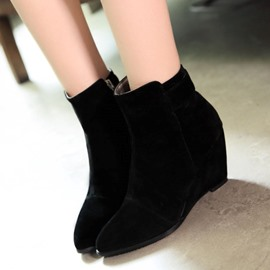 Ericdress Pointed Toe Wedge Ankle Boots