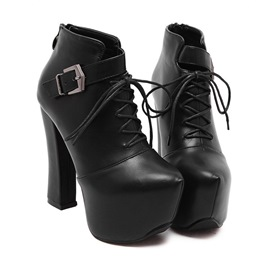 Ericdress European Lac up High Heel Boots