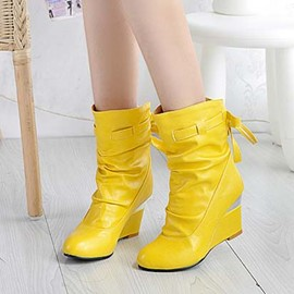 Ericdress Fashion Wedge High Heel Boots