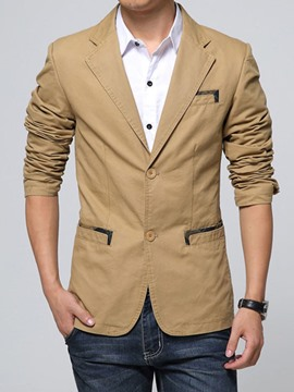 Ericdress Patchwork with Buttons Spring Autumn Men's Blazer