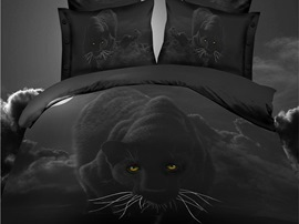 Ericdress Panther Nightwalk Print 3D Bedding Sets