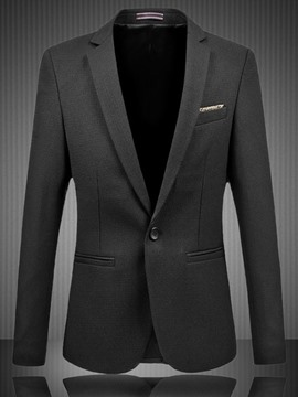 Ericdress Solid Color One Button Gentleman Style Men's Blazer