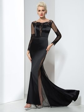 Ericdress Mermaid Long Sleeves Lace Evening Dress