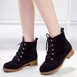 Ericdress Popular Lace-up Casual Ankle Boots