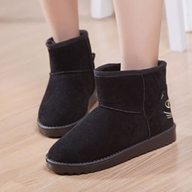 Ericdress Cute Cartoon Flat Snow Boots