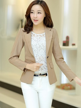 Ericdress Plain OL Style One Button Blazer