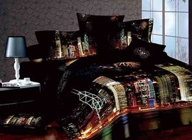 Ericdress Colorful Metropolis Night Scenery Print Bedding Sets