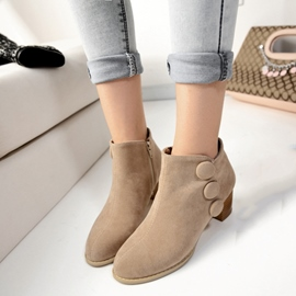 Ericdress Fashion Suede Ankle Boots