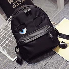 Ericdress Trendy Squint Eyes Embroidered Backpack