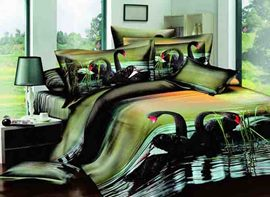 Ericdress Rare Black Swan Print 3D Bedding Sets