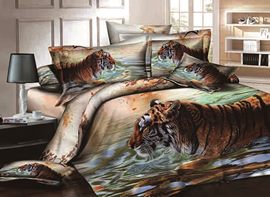 Ericdress Mighty Vigorous Tiger Print 3D Bedding Sets