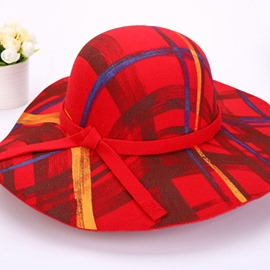 Ericdress Bowknot Plaid Top Hat