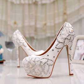 Ericdress Princess Lace&rhinestone High Heel Wedding Shoes