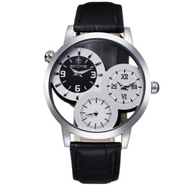 Ericdress Vintage Three Dial Quartz Watch For Men