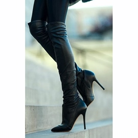 Ericdress Sexy Black Knee High Boots
