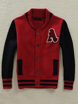 Ericdress Patchwork Letters Boys Outerwear