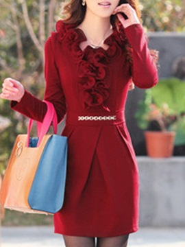 Attractive Slim Long Sleeves Slim Dress