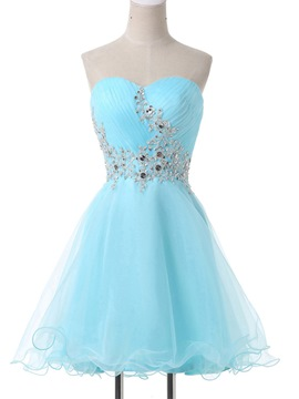 Ericdress Sweetheart Appliques Lace-Up Homecoming Dress