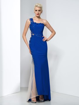 Ericdress Sheath One Shoulder Appliques Evening Dress