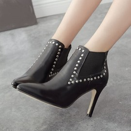 Ericdress Pointed Toe Martin Boots with Rivets