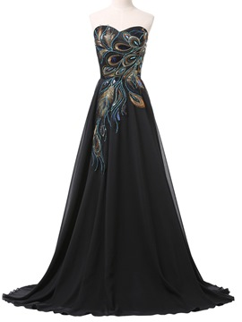 Ericdress Sweetheart Appliques Sequins Evening Dress
