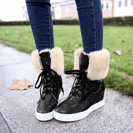 Ericdress Hot Selling Furry Lace up Snow Boots