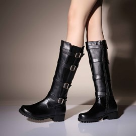 Ericdress Stylish Knee High Boots with Buckles