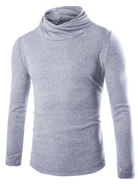 Ericdress Solid Color Heap Collar Pullover Underwear Men's Knitwear