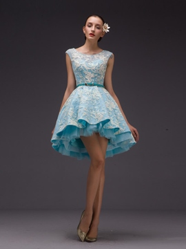 Ericdress Scoop Ball Gown Beading Sashes Sequins Short Homecoming Dress