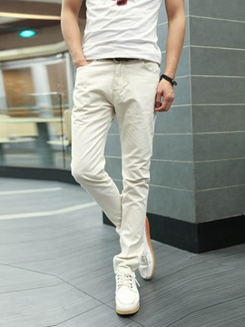Ericdress Solid Multi-Color Cotton Blend Men's Pencil Pants