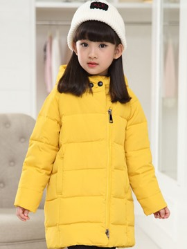Ericdress Plain Straight Asymmetric Girls Outerwear