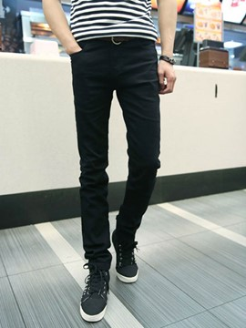 Ericdress Thicken Warm Men's Denim Pencil Pants