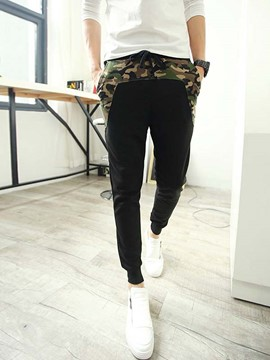 Ericdress Camouflage Patchwork Cotton Blend Men's Pants