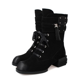 Ericdress Stylish Lace-up Ankle Boots