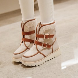 Ericdress Patchwork Buckles Decoration Snow Boots