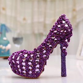 Ericdress Dreaming Purple Crystal Wedding Shoes
