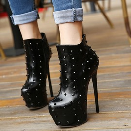 Ericdress European High Heel Boots with Rivets