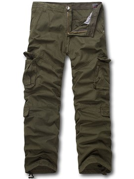 Ericdress Solid Color Casual Hiking Sports Loose Men's Pants
