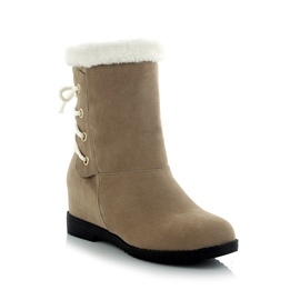 Ericdress All-matched Back Lace up Snow Boots