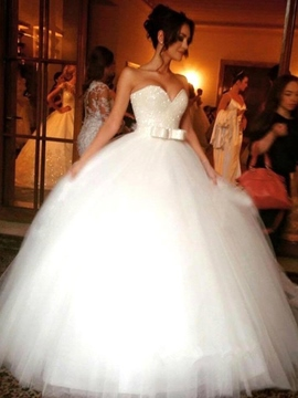 Ericdress Beautiful Sweetheart Bowknot Ball Gown Wedding Dress
