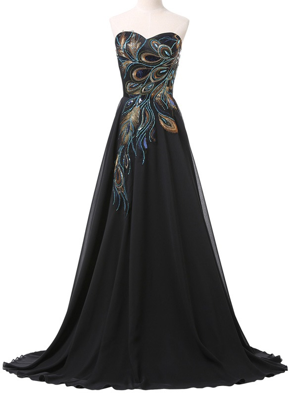 Ericdress sweetheart appliques sequins evening dress for Tk maxx dresses for weddings