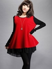 Ericdress Plus Size Double-Layer T-shirt