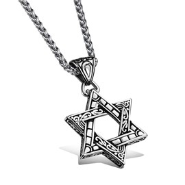 Hollow-out Star Pendant Men's Necklace