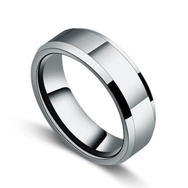 Simple Style Men's Tungsten Ring