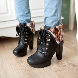 Ericdress Charming Lace-up Martin Boots