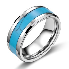 Fashion Turquoise Decorated Men's Ring
