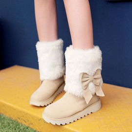 Ericdress Charming Solid Color Snow Boots